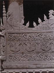 Panels in wall of [Taik Taw] monastery, [Mandalay]